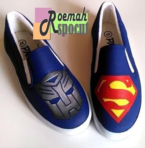 HOT SPESIAL!!! Sepatu Lukis Transformer & Superman