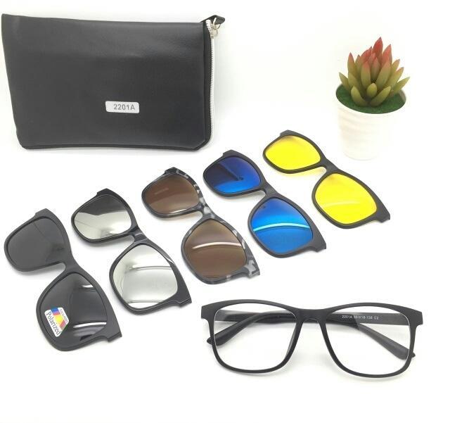 Hot Item!! Kacamata Paket 5 Lensa Clip On 2201 Harga Grosir Gaya Fashion Termurah - ready stock