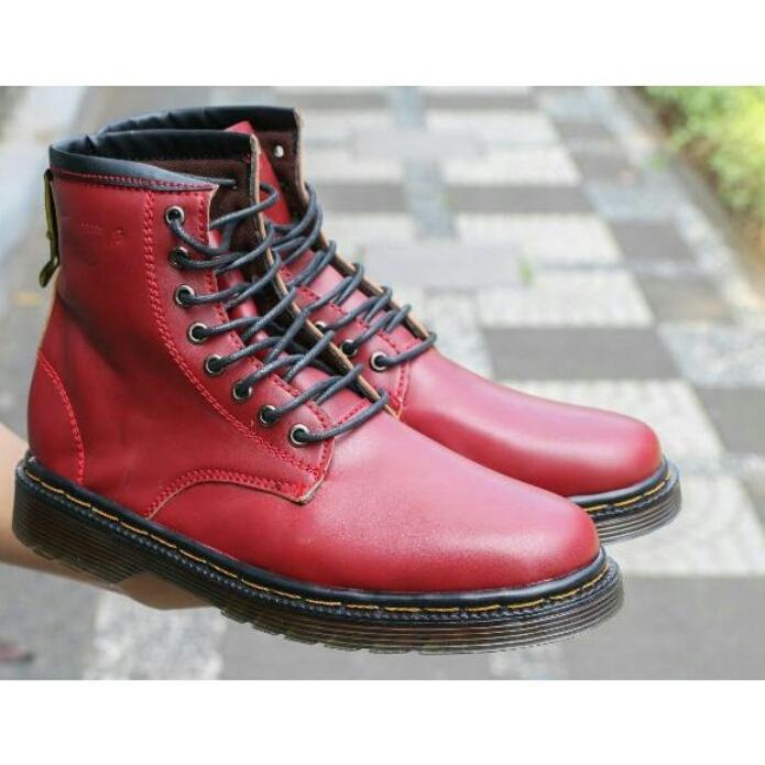 Sepatu Boots Pria Docmart Dr Mastens Dokmar Sepatu Touring Tracking PDH Pria 8 Lubang / Hole