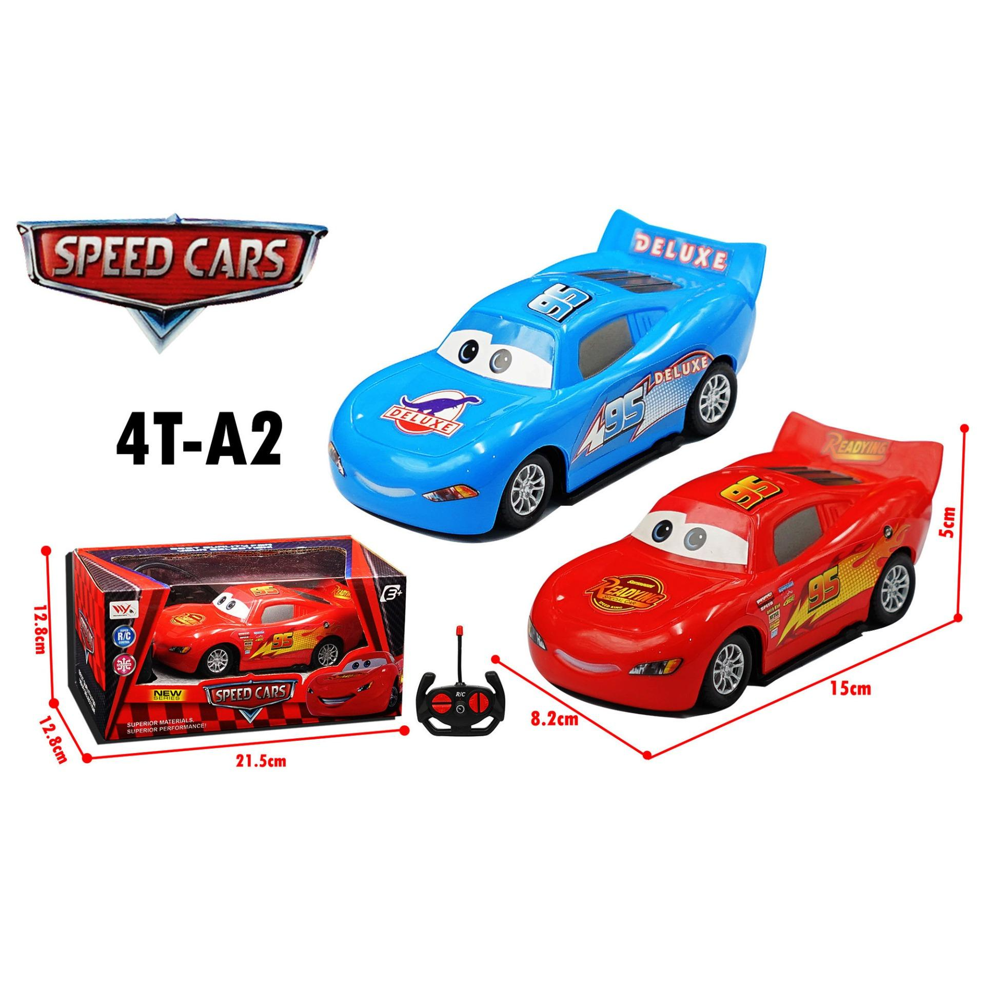 RKJ Mainan Anak RC Mobil Remot Speed Cars with Lights  4T-A2 - Warna Random