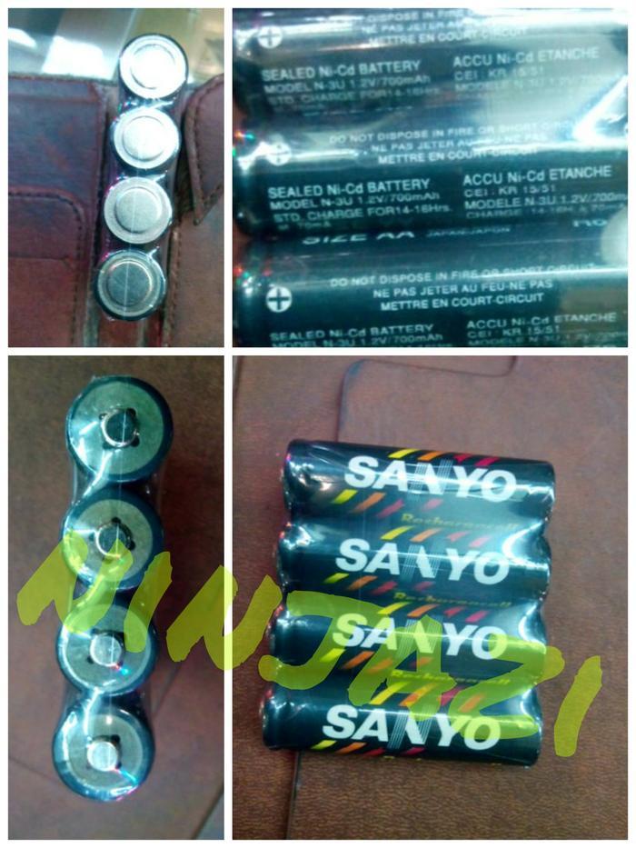 New batre recharge ukuran AA sanyo (4pc) 1.2 volt (china import)