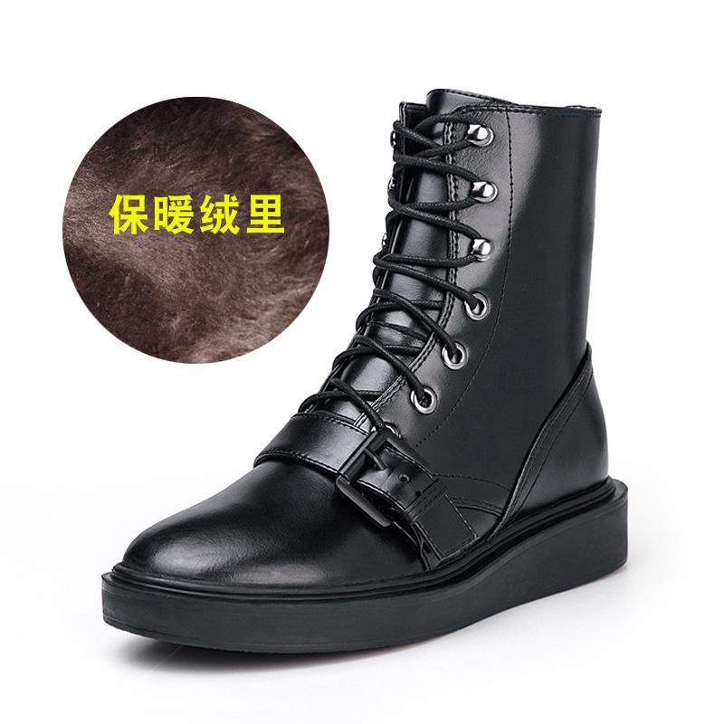 Sepatu Tunggal Sepatu Wanita Musim Semi atau Musim Gugur Dr. Martens Datar (Hitam (Tunggal Di Mana Cocok Musim semi atau Gugur))