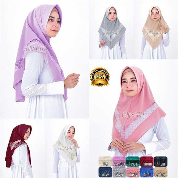 Premium Jilbab Kerudung Instant Syari (Jilbab Syar'i) Hijab Instan Khimar Prada Aqila Toko Berkah Online