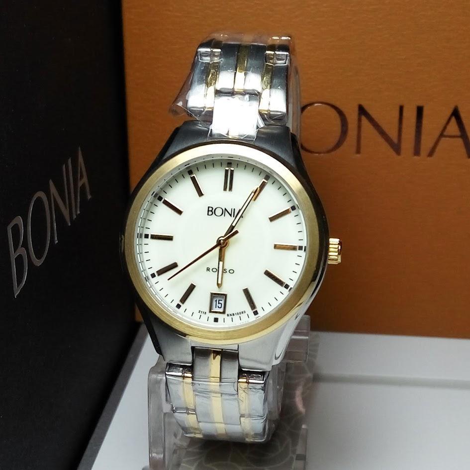 Bonia Rosso B10097 2315 Jam Tangan Wanita Silver Plat Putih B10066 2125 Gold B10060 2123 Stainless Steel