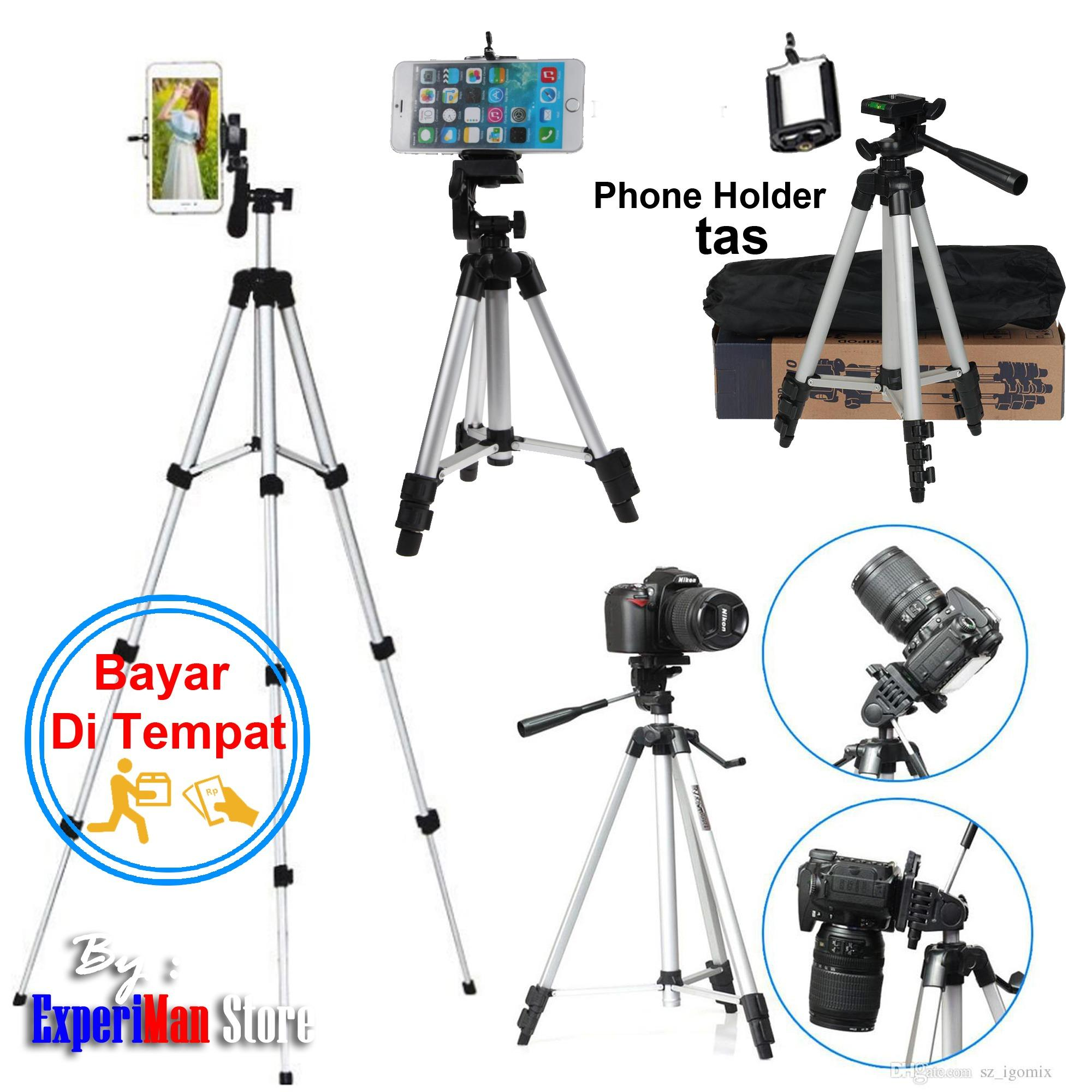 Tripod HP Dan Camera DSLR - 3110 Silver - Free Holder For Hp
