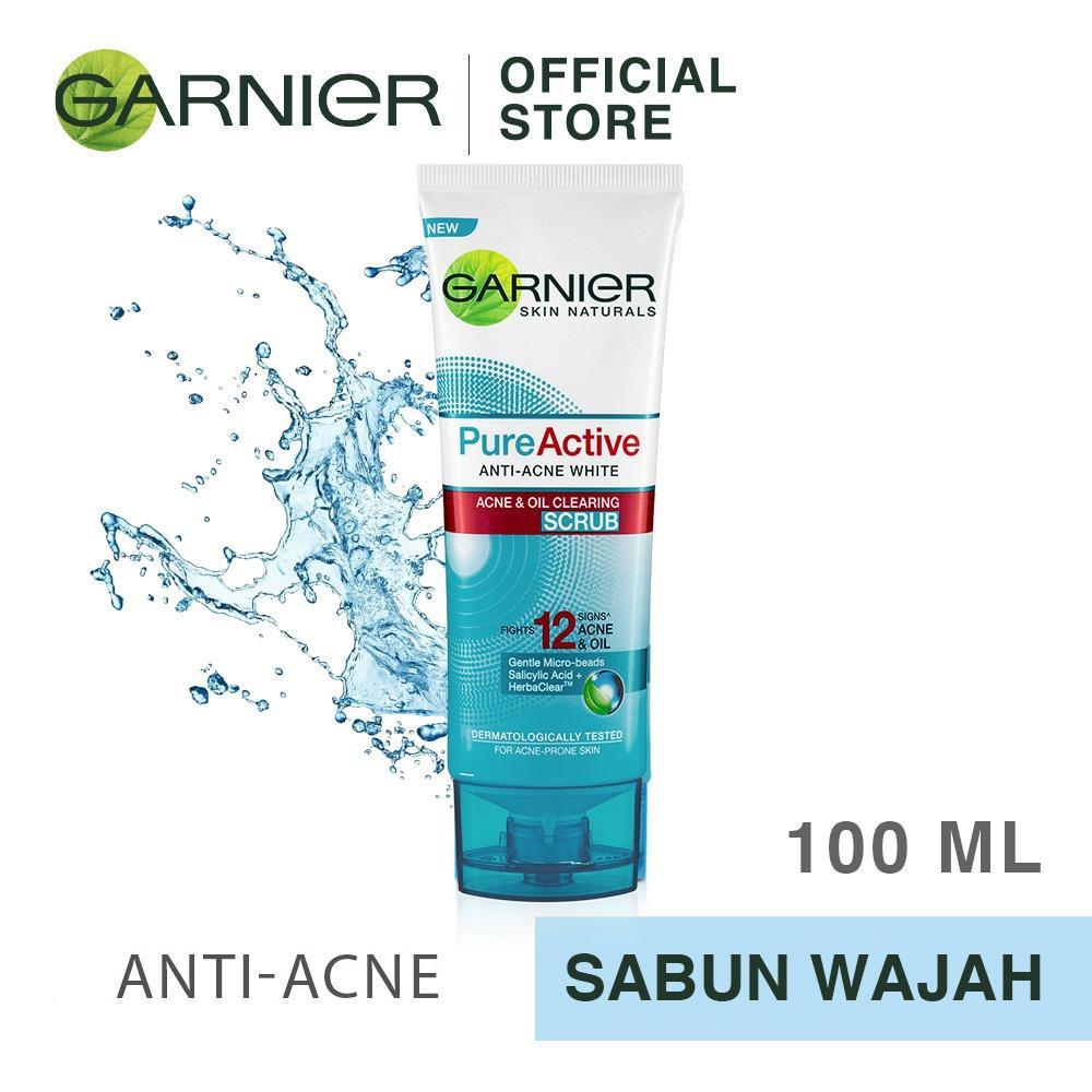Garnier Pure Active Acne & Oil Clearing Scrub [Pembersih Wajah] - 100mL