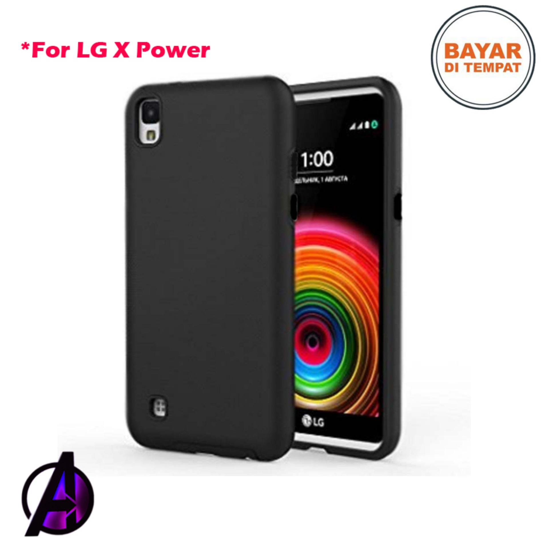 Case Black Matte Soft Slim LG X Power