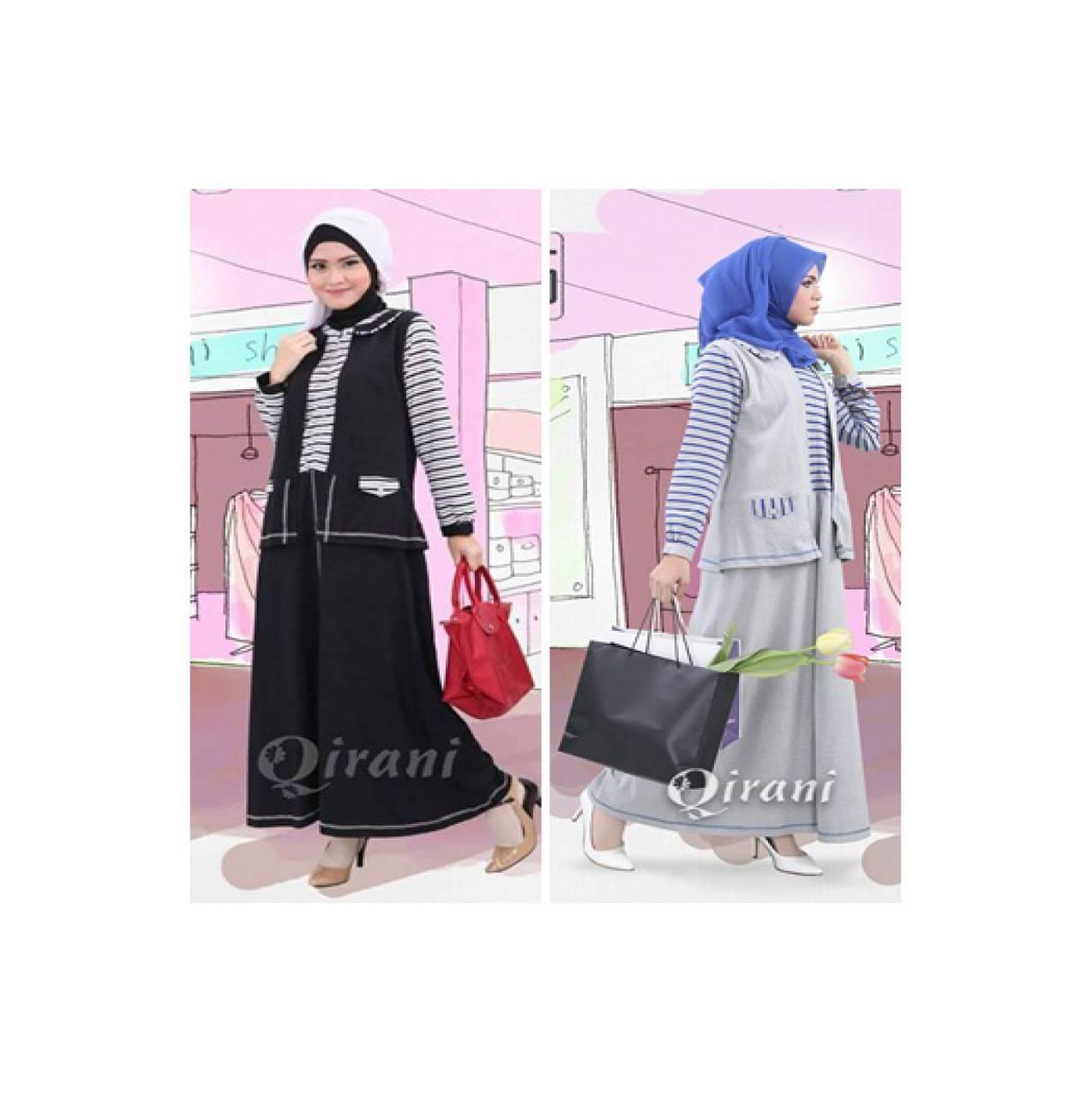 Qirani Qdf Fresh 25 - Gamis Catton Combet - Jual Baju Muslim Original