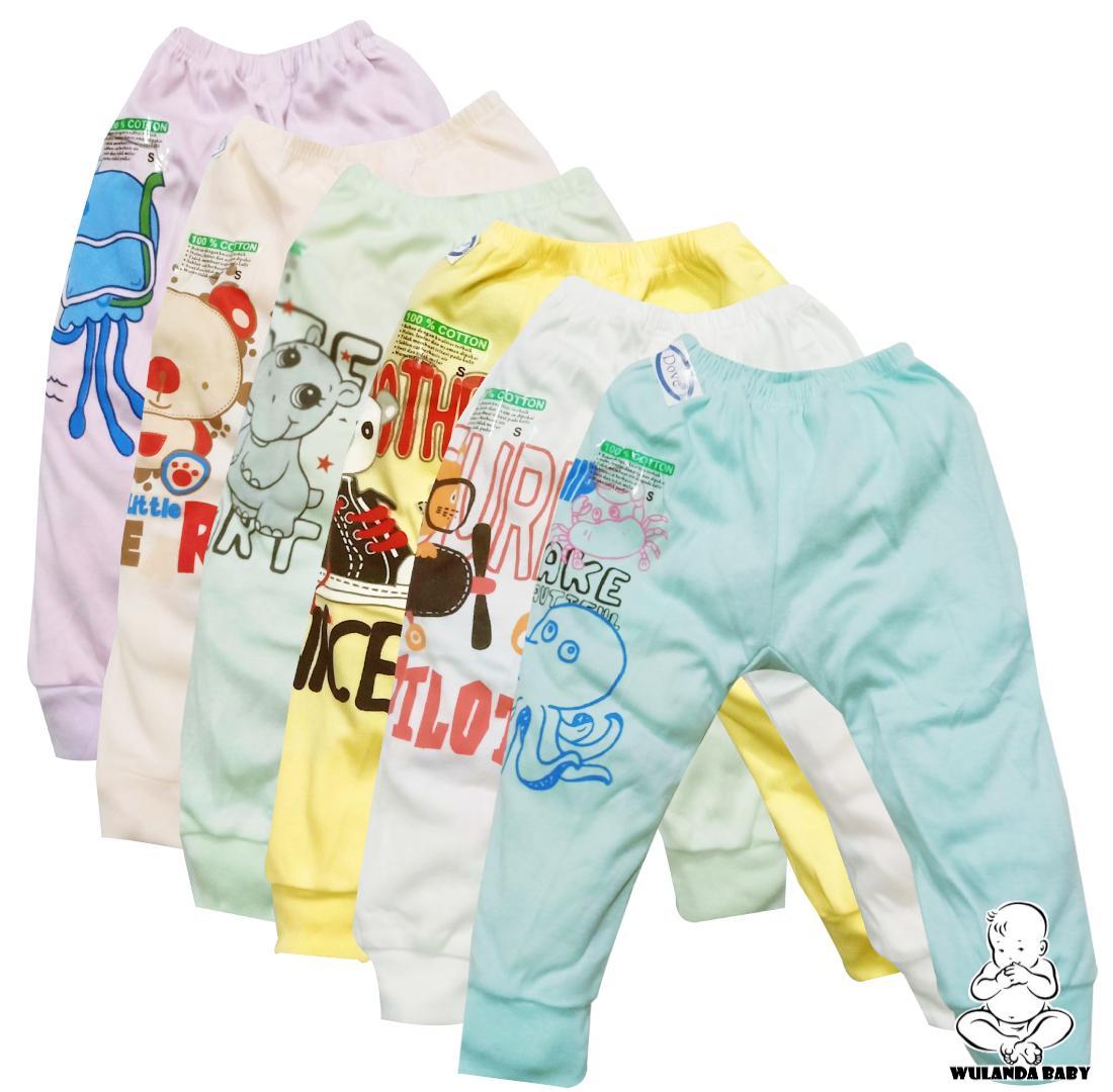 Wulanda 6 Pcs Celana Panjang Anak Bayi Laki Laki Dan Perempuan Warna Dove By Wulanda Baby.
