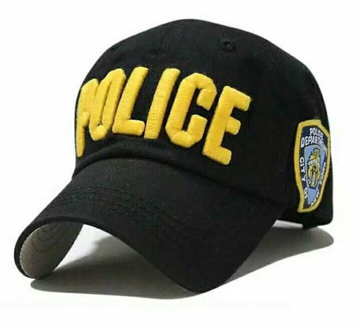 Topi Baseball Police Militer Topi Bordir Tactical