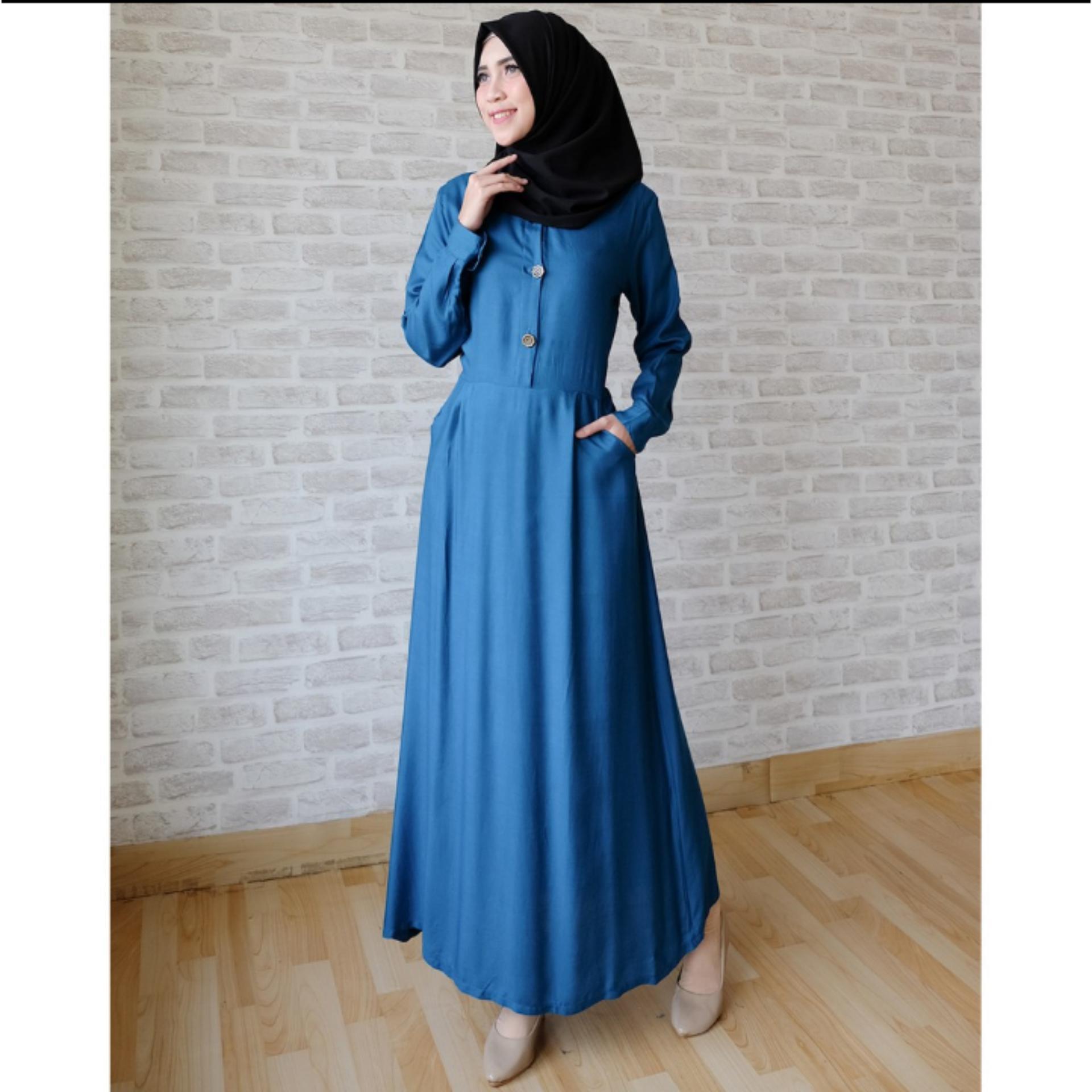 Gemilang Gamis Syari Dress Muslimah With Hijab - All Size
