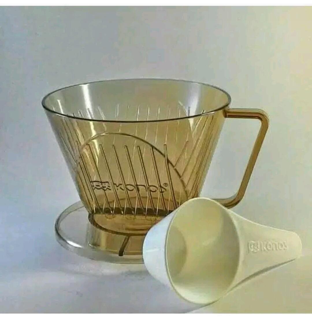 Coffee Dripper Drip Saringan Kopi V60 Daiso Japan + Sendok