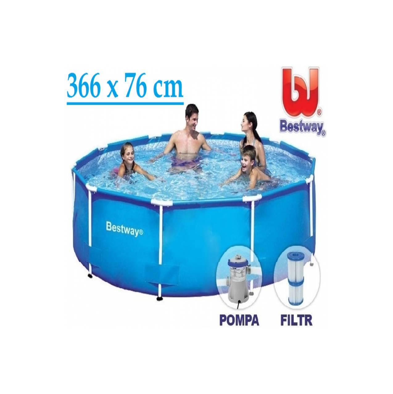 Bestway Steel Pro Frame Pool Set 366cm. Kolam Renang & Filter 56416