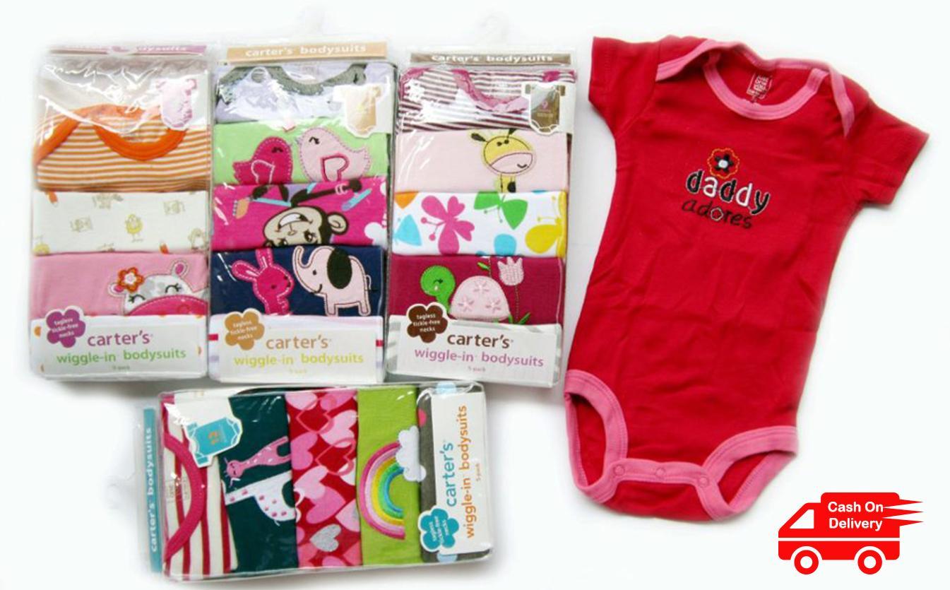 baju bayi jumper jamper motif cewe RANDOM lengan pendek 1 pack isi 5 pcs jumper motif