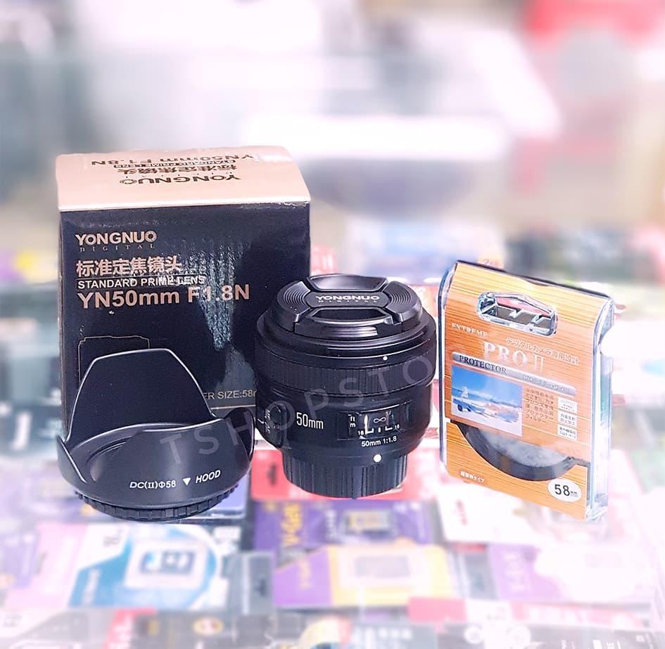 Review Harga Lensa Yongnuo Nikon Paling Baru Setiap Situs Belanja Fix Yn50mm F18 For 50mm Free Uv Filter Lens Hood