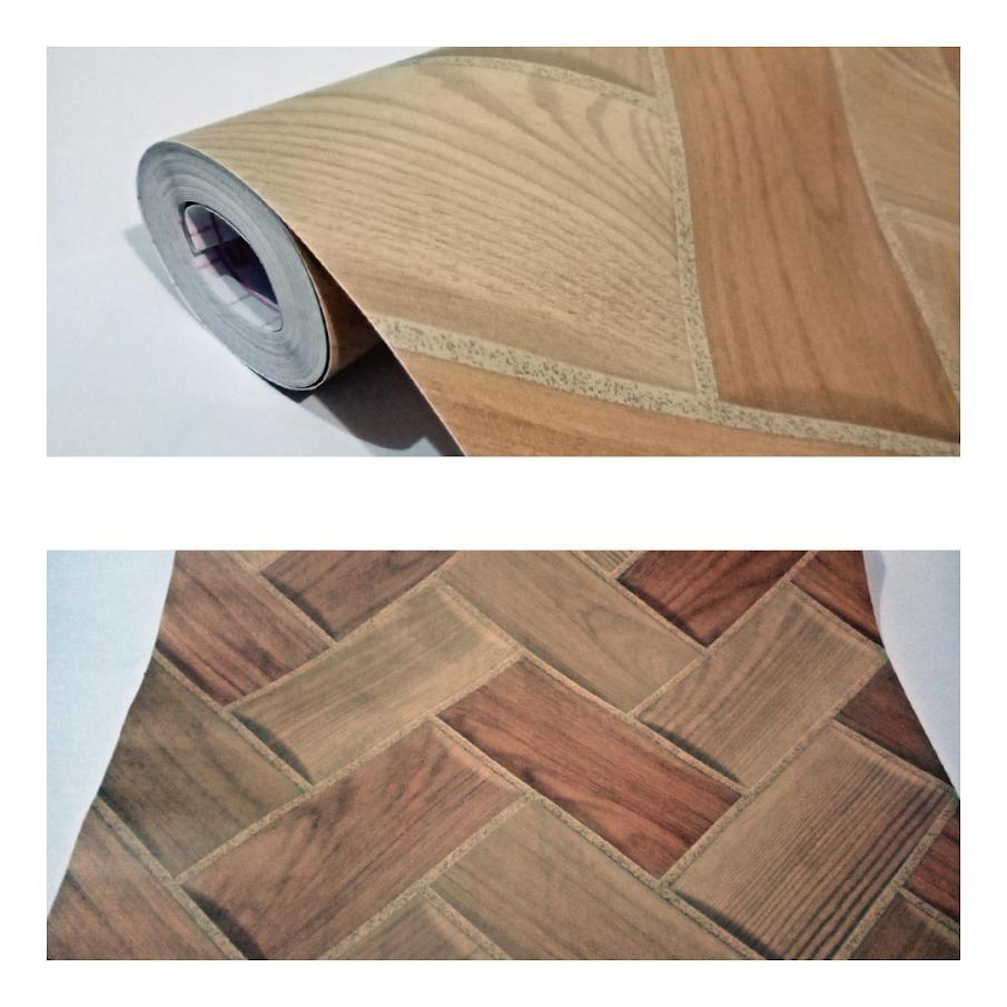 wallpaper sticker dinding termurah terlaris  Elegan 7 bilik serat kayu
