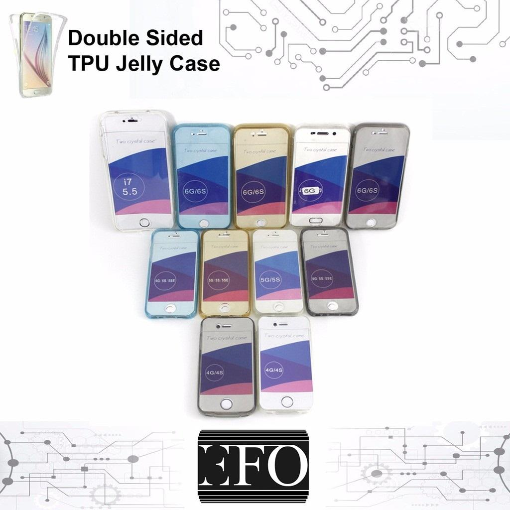 Double Crystal Jelly Case For IPhone 5 Soft Case Apple Double Protection