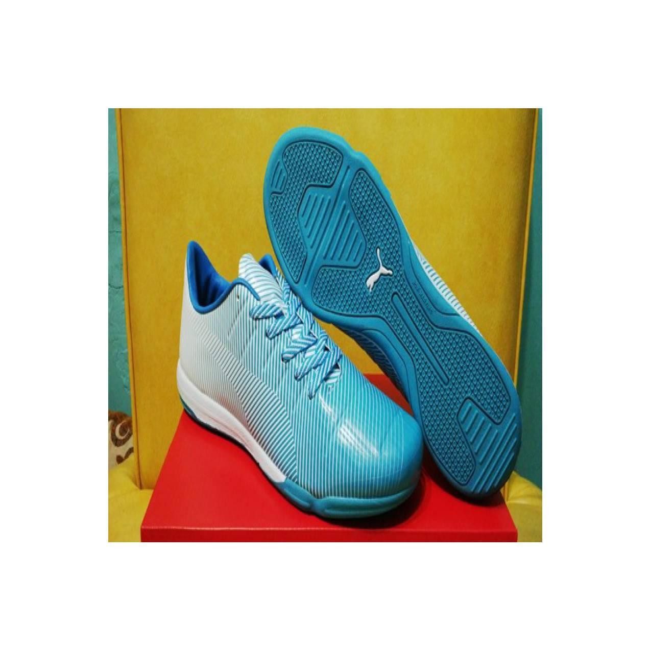 Sepatu Futsal Puma Evopower 1.3 Camo Blue