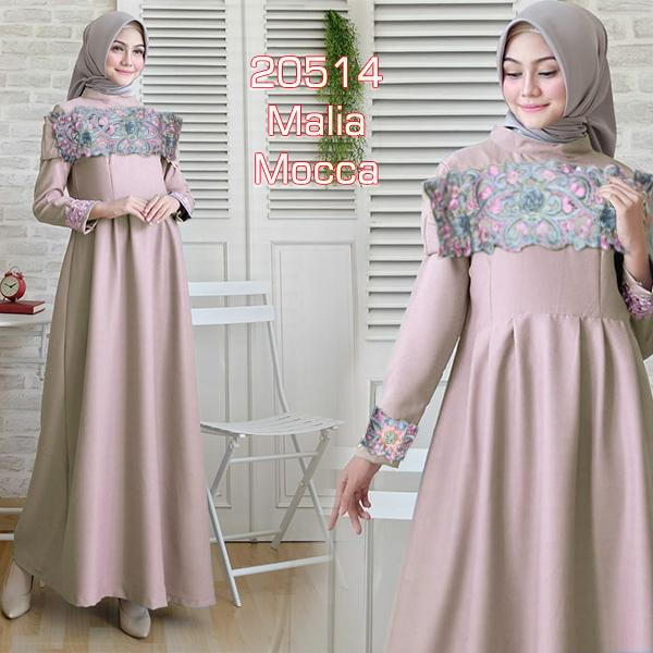 TotallyGreatShop Gamis Pesta Sabrina Bordir Premium Gaun Pesta Party Maxi  long Dress Sabrina Fashion Baju Kebaya Pesta Modern Bordir Wisuda remaja  Kondangan ... 77a572e1b1