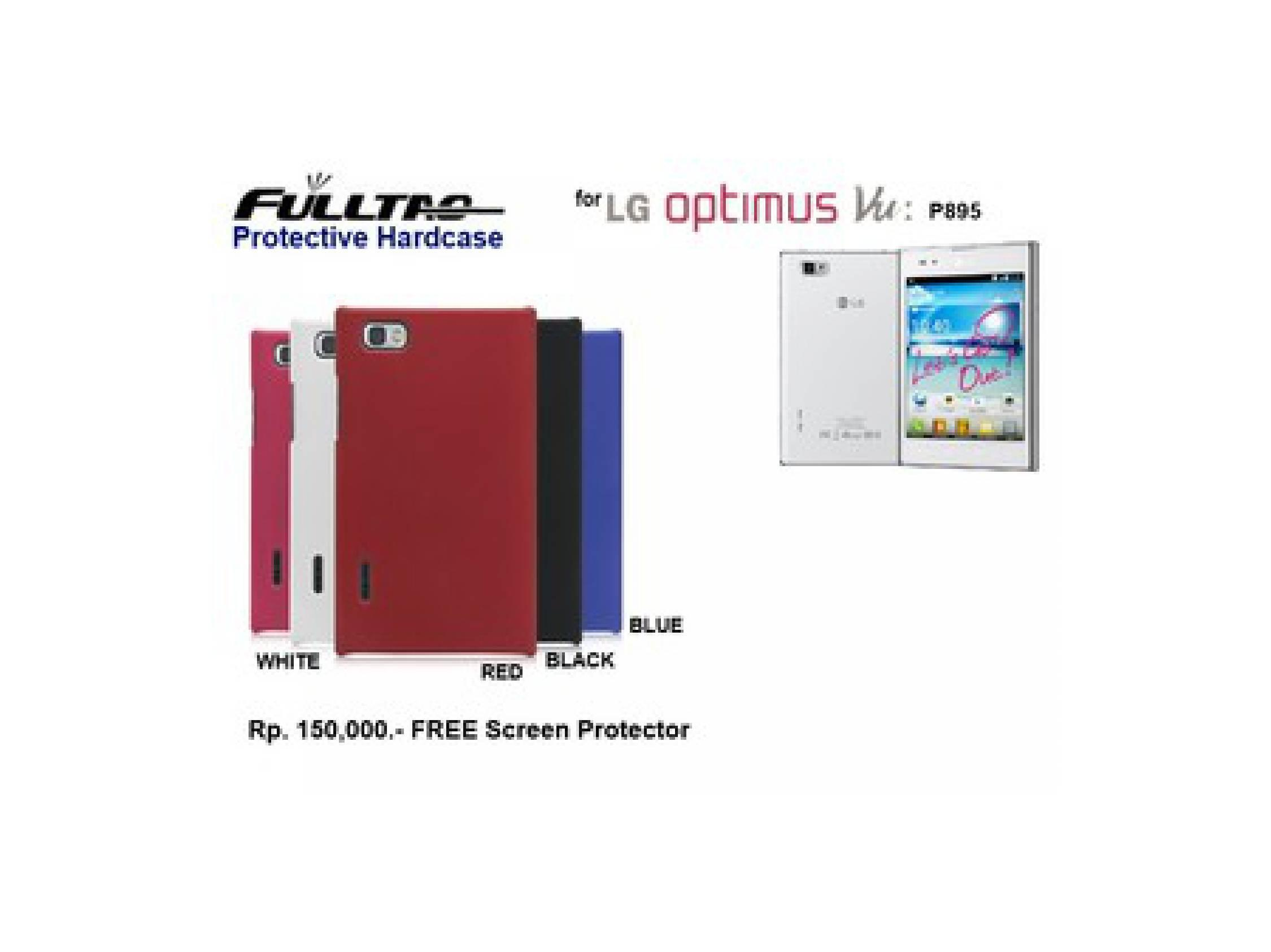 LG Optimus Vu P895 : FULLTAO Hardcase FREE SP (BLACK)