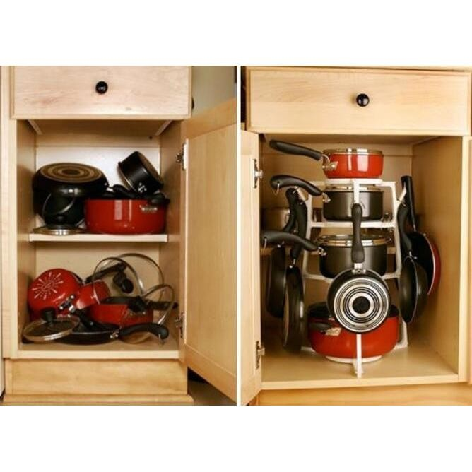Lemari Untuk Dapur Rak Peralatan Dapur Lemari Perabotan Dapur Rak Penyimpanan Untuk Di Dapur Rak Pemegang Panci Holder Panci 4 Susun