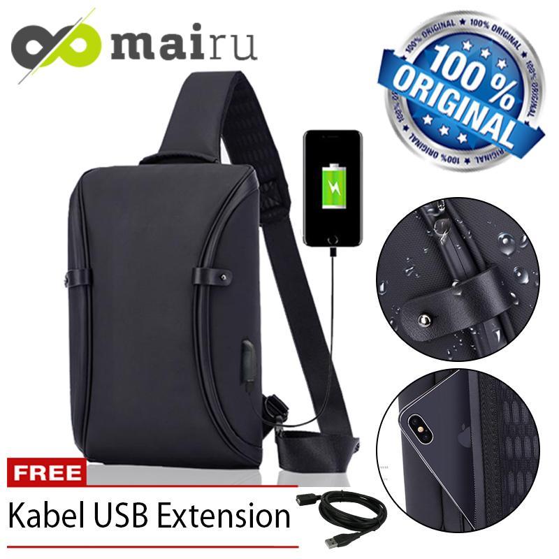 Mairu 3101 Infinite Tas Selempang Anti Maling Pria Travel Sling Bag Cross Body Import Anti Air With