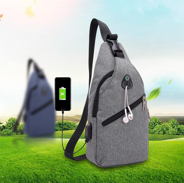 Tas Selempang USB Sling bag Charger Murah Impor Batam Tas Slempang Tas Dada TCS06