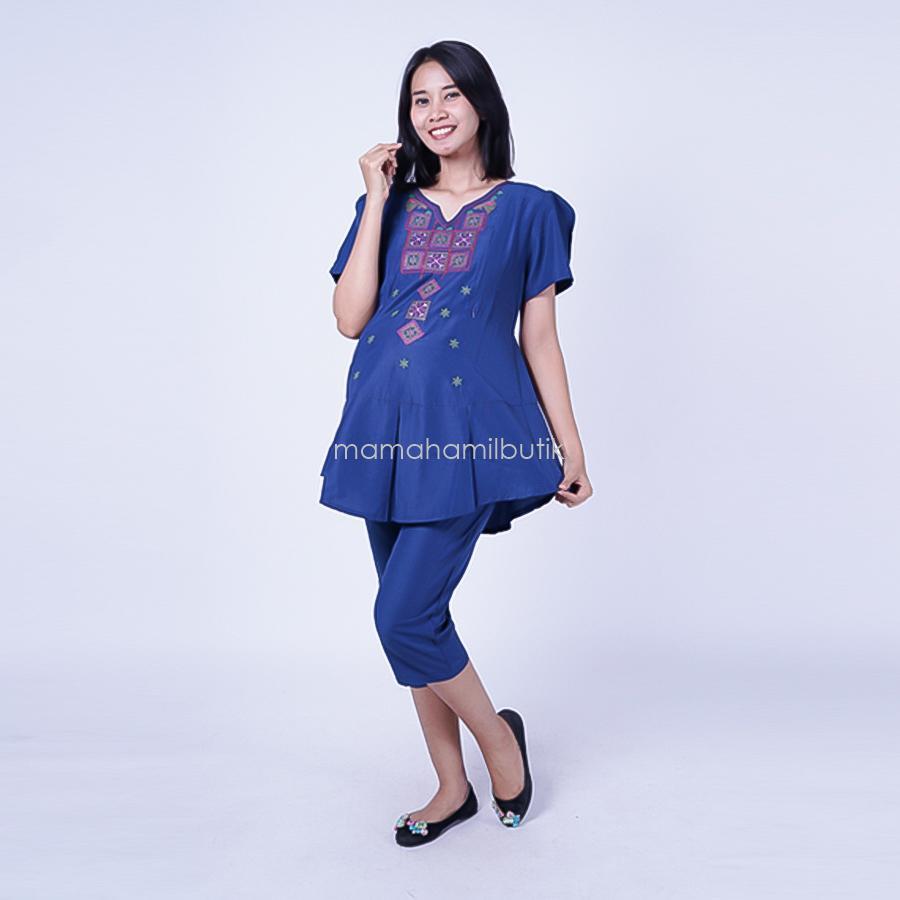 Ning Ayu Setelan Hamil Menyusui 7/8 Cristic - STD 74 / Baju Menyusui Lengan Panjang / Baju Atasan Menyusui / Baju Menyusui Muslimah / Baju Muslim Wanita untuk Ibu Menyusui/ Baju Hamil Untuk Kerja / Baju Hamil Untuk Kerja Modis