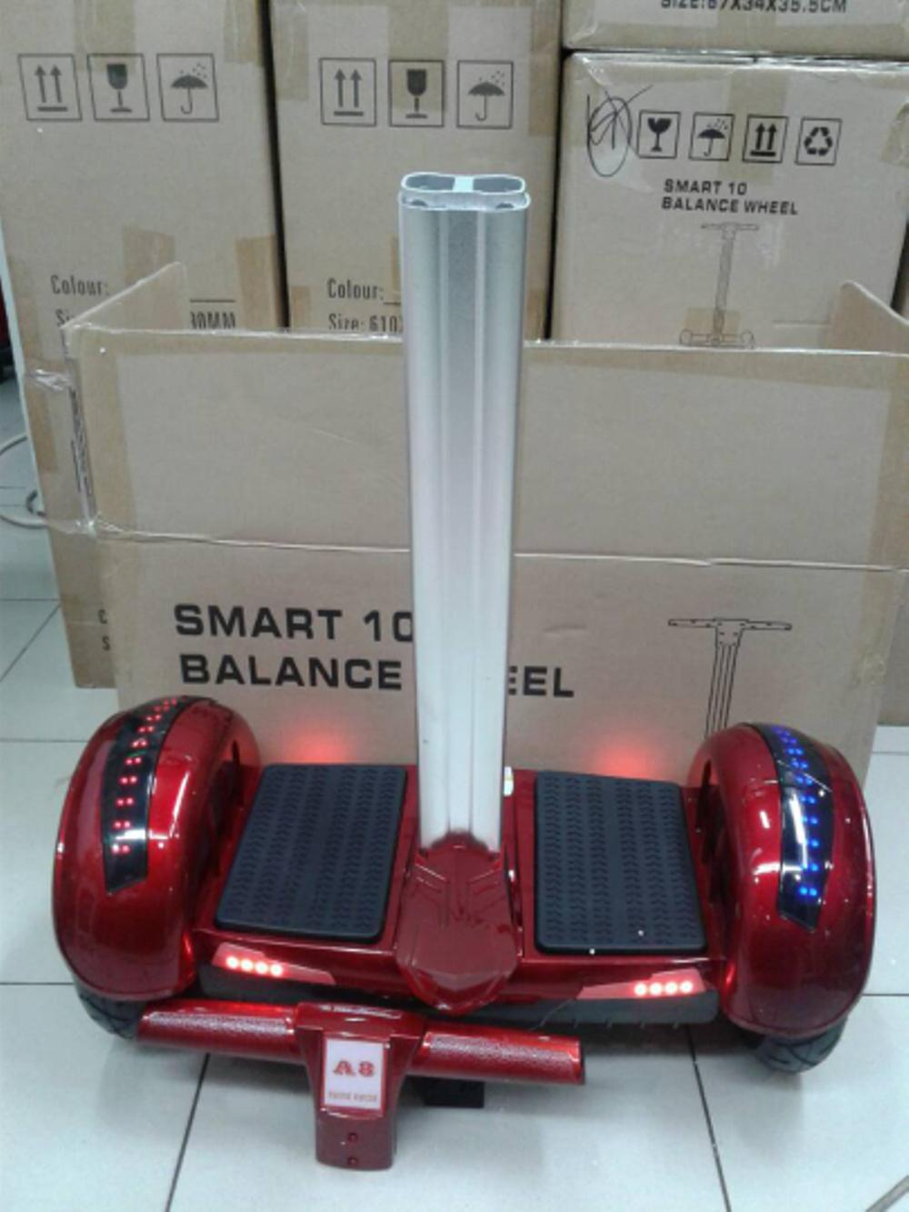 Mini Segway Ban Angin 10inch & Self Balance Car & Hoverboard & Smart Balance Car Merah By Sumber Rejeki_shop.