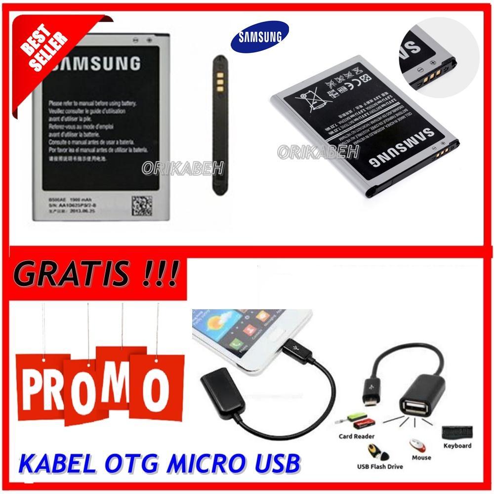 Samsung Baterai / Battery Galaxy S4 Mini / I9190 Original - Kapasitas 1900mAh + Gratis Kabel Otg Micro Usb  ( orikabeh )