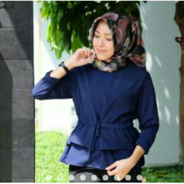 Omah Fesyen Ffion Ethnic Peplum Blouse Brown Size M. Source · Promo Bulan Ramadhan Voila Peplum
