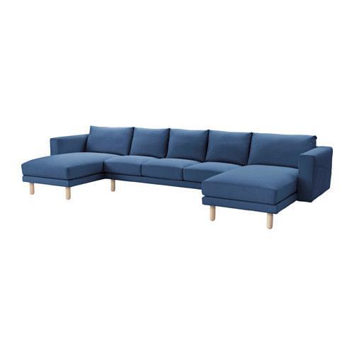 PROMO!! IKEA NORSBORG Sarung sofa 3 dudukan 2chaiselongue, Edum biru tua MURAH /  BUBBLE 3 LAPIS / ORIGINAL / IKEA ORIGINAL