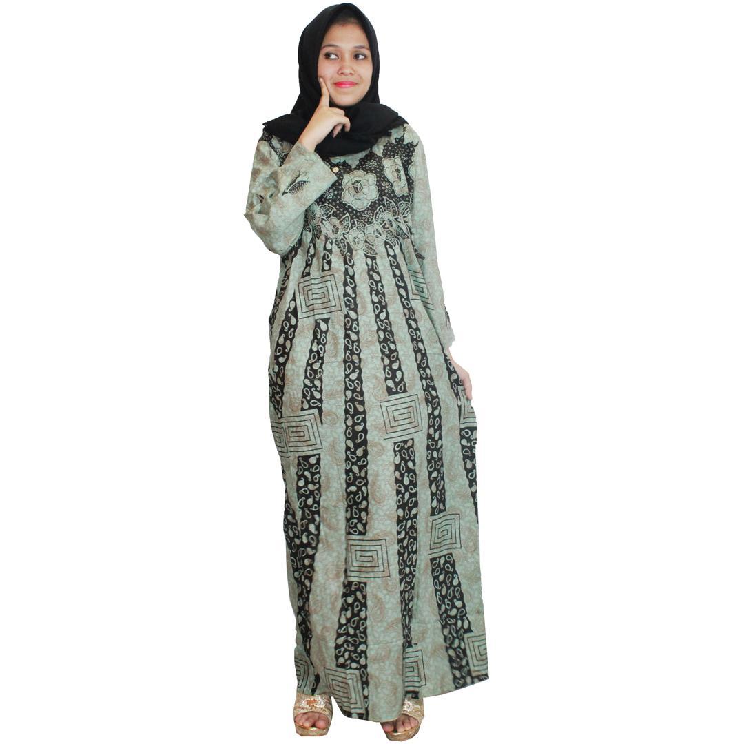 Longdres Batik, Daster Muslim, Pakaian Sehari-hari Wanita, Leher Kancing, Bumil, Busui (LPT001-22) Batikalhadi Online