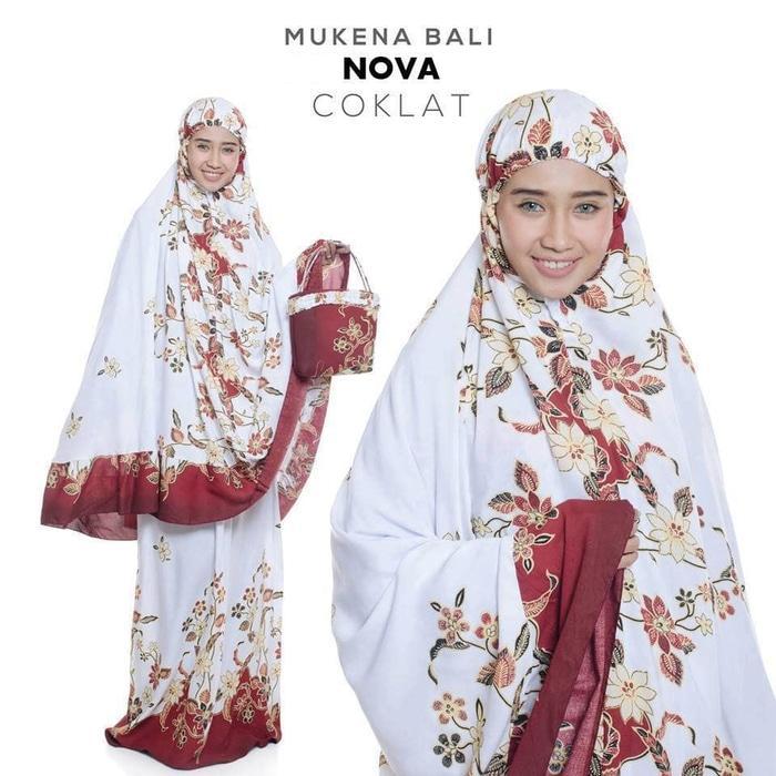 Auf Hammas Mukena mewah / Mukena dewasa / Mukena bali / Mukenah / Mukena katun jepang / Mukenah Wanita / Mukena Putih / Mukenah Murah / Mukenah Jumbo / Mukenah Remaja / Mukenah Dewasa Bali Nova Coklat