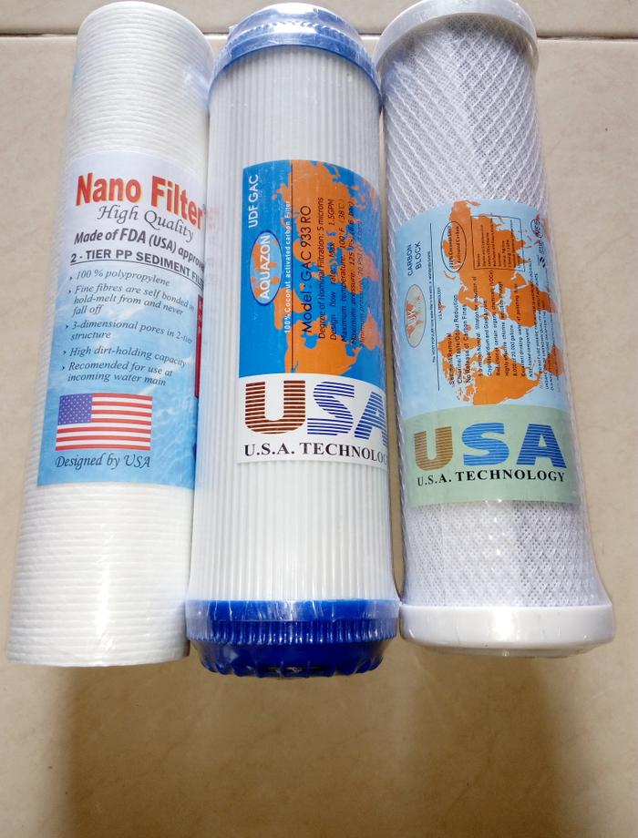 Paket Sediment Catridge Filter (Sediment+GAC+CTO) ||| tabung filter air kompresor saringan penjernih sumur cartridge kran sumur zernii saringan minum aquarium kolam ikan subaru housing besi bersih purifier
