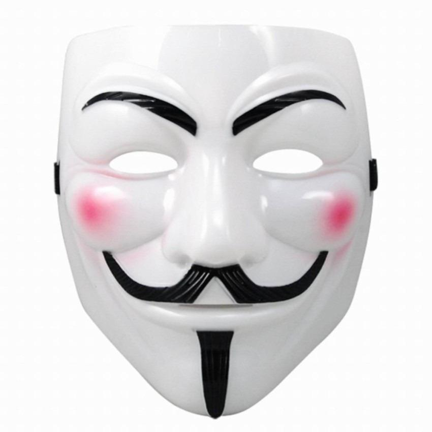 Topeng Vendetta Mask Occupy Anonymous Cosplay - Putih