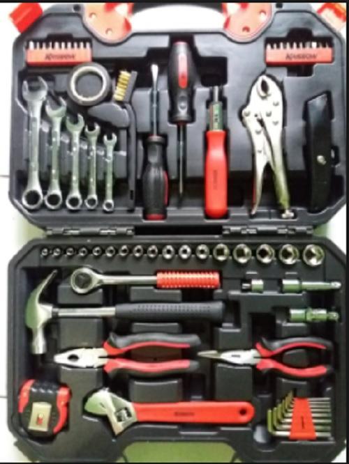 Krisbow Hand Tool Set / Perkakas Mekanik Tool Kit 66pcs