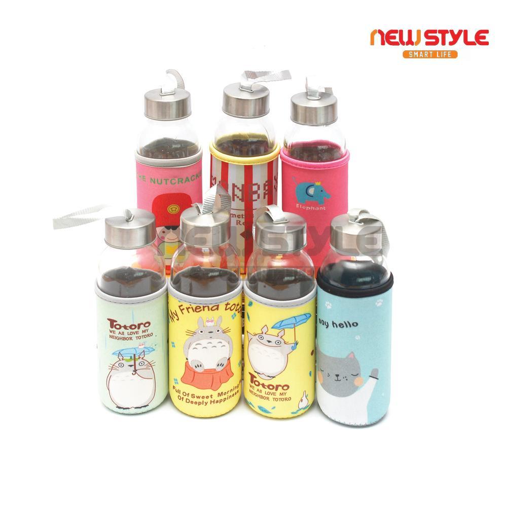 Botol Minum Lucu Creative Portable Sports Glass 300ml Spec Dan Usupso 3022 Cloth Set Insulated Merah Loi Cute Cartoon Tumbler Water Bottle Tempat Karakter Kaca Tahan