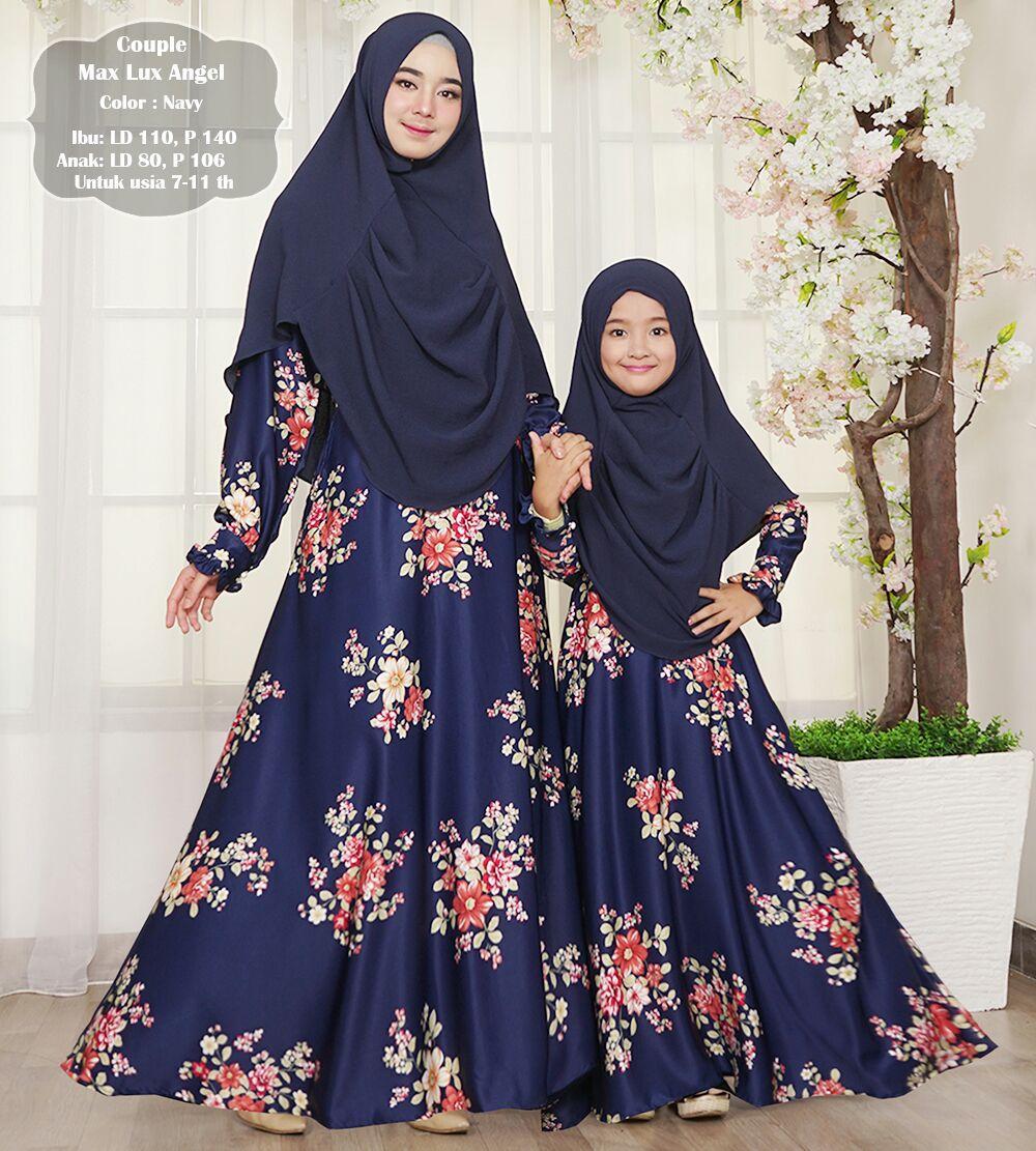 gamis muslim syar'i maxmara lux angel ibu dan anak couple