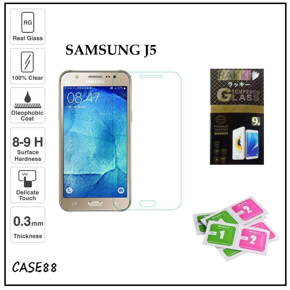 Tempered Glass Samsung Galaxy J5 Temper Anti Gores Kaca 9H / Pelindung Layar / Temper Samsung J5 / Screen Guard / Screen Protection / Anti Gores Kaca J5 / Temper Kaca Samsung Galaxy J5 - Transparant