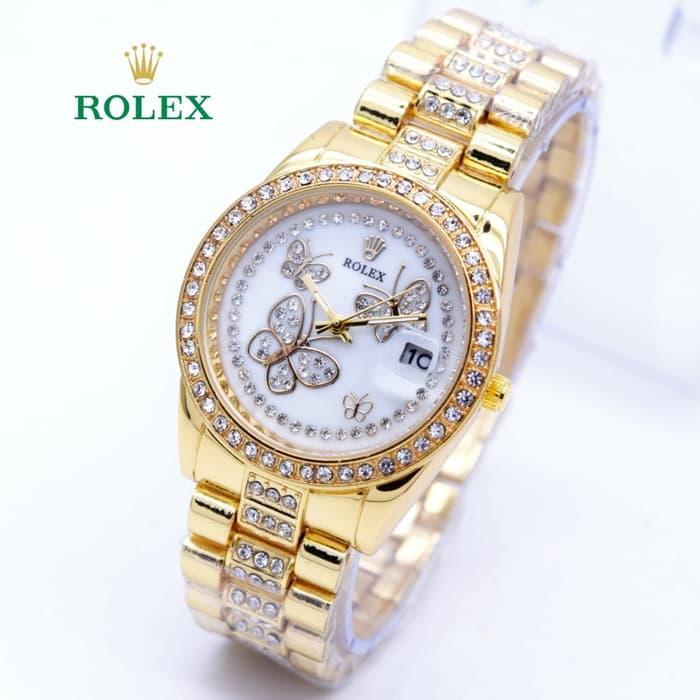 HOT PROMO  Jam Tangan Wanita Rolex Kupu Kupu Super Mewah ( Aigner Bonia Casio )  /SALE