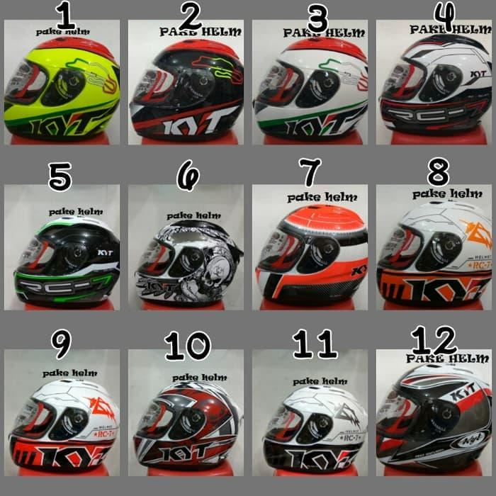BEST QUALITY HELM KYT RC 7 RC SEVEN MOTIF FULL FACE RC7