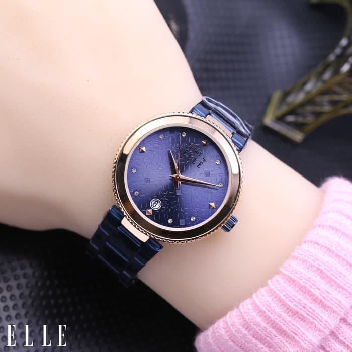 Jam Tangan Wanita   Cewek Elle Fashion 02 Rantai Blue Rose 4cb5cf3f00