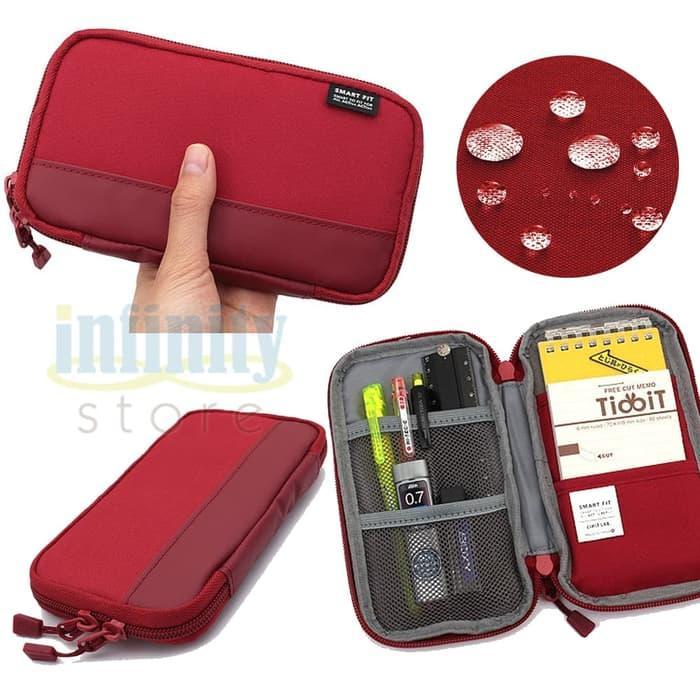 Ready Stock Lihit Labs Compact Pen Case, Smart Fit - Tempat pensil - Hijau muda