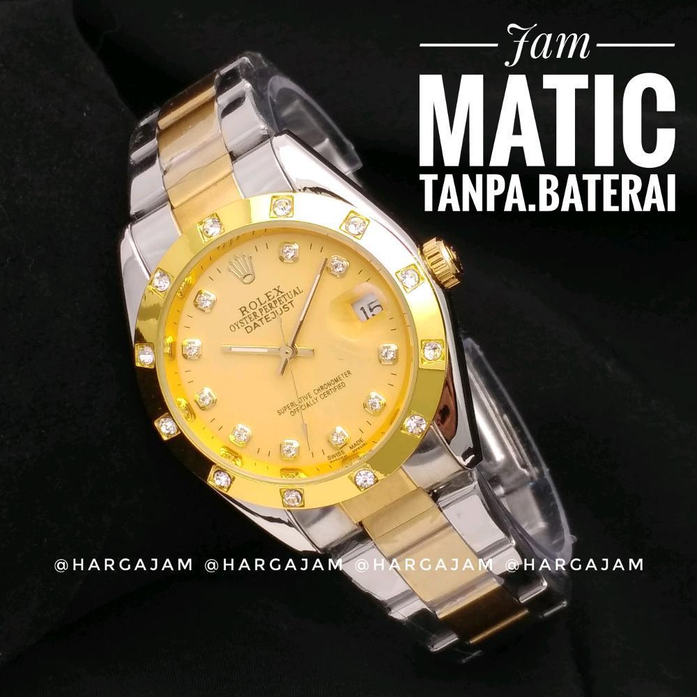 Jam Automatic Rolex R1003 Oyster Perpetual Rantai Kombi Ring Gold (Hargajam Harga Jam Otomatis Matic)