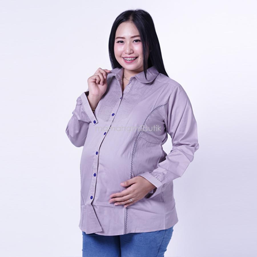 Ning Ayu Atasan Hamil Siska Blouse modis cantik best seller - BLJ 430 / Baju Hamil untuk kerja Lengan Panjang / Baju Hamil Seksi / Baju Hamil Gamis / Baju Menyusui Modis / Baju menyusui Murah / Baju Menyusui Terbaru / Baju Menyusui Keren