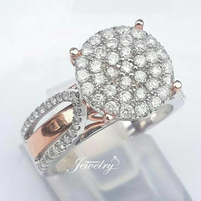 Cincin Emas Berlian Eropa Natural Diamond Wedding Nikah Kawin Tunangan