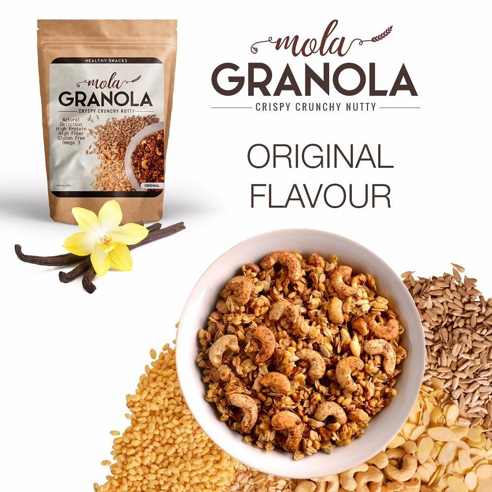 Jual Granola Terlengkap Termurah East Bali Cashew Coconut Banana Sarapan Sehat 400gr Cemilan Diet Snack Rasa Original Mola