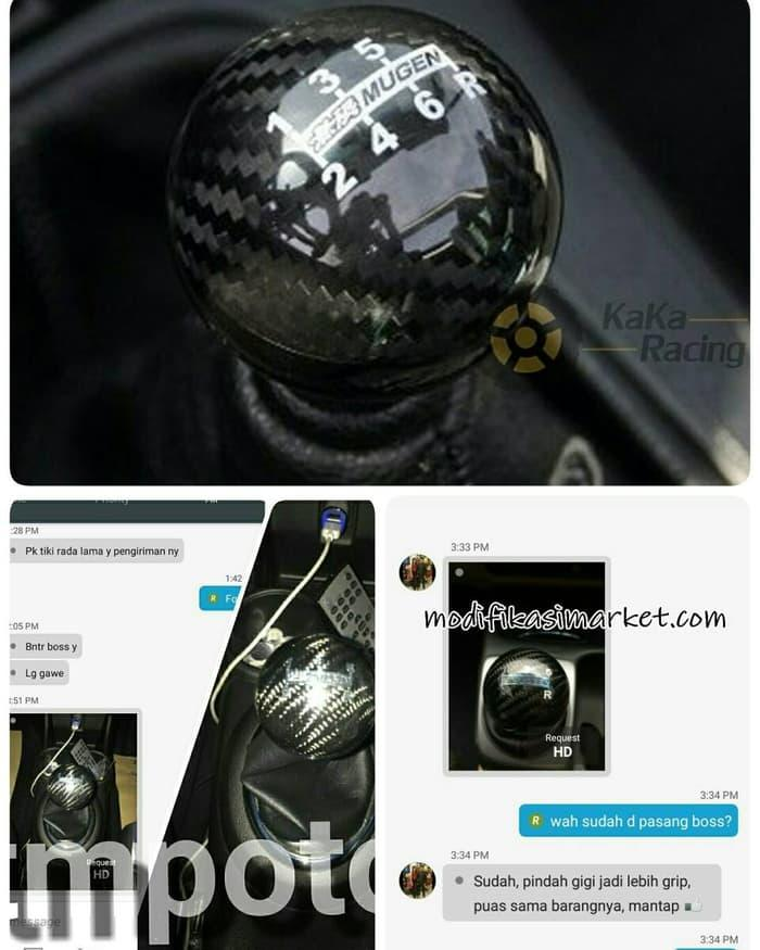 Shift Knob Mugen Carbon Fiber 3d Real Universal By Amaliastore.