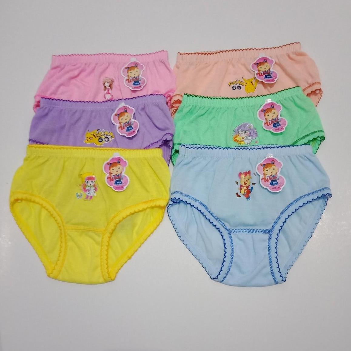 6 pcs celana dalam anak perempuan merek WUNI. 1425beed7c